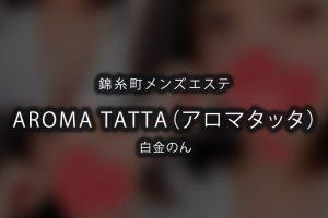 錦糸町にあるメンズエステ「AROMA TATTA(アロマタッタ)」のセラピスト「白金のん」さんのアイキャッチ画像です。