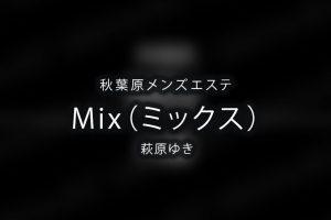秋葉原にあるメンズエステ「Mix(ミックス)」のセラピスト「萩原ゆき」さんのアイキャッチ画像です。