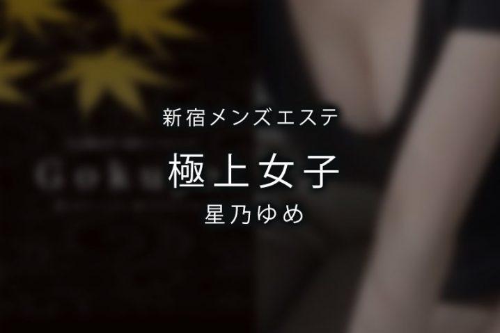 【体験】東新宿「極上女子」星乃ゆめ【退店済み】